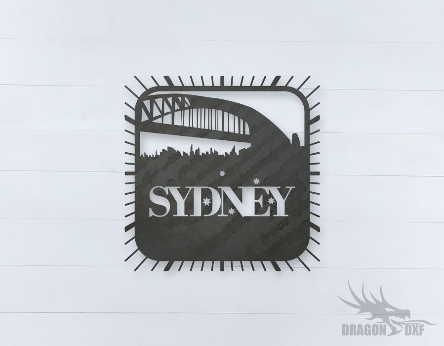 Australian Clock Design 3  - DXF Download
