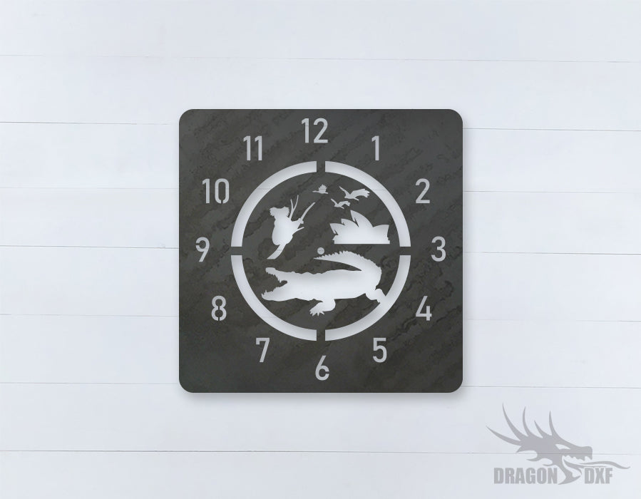Australian Clock Design 8  - DXF Download
