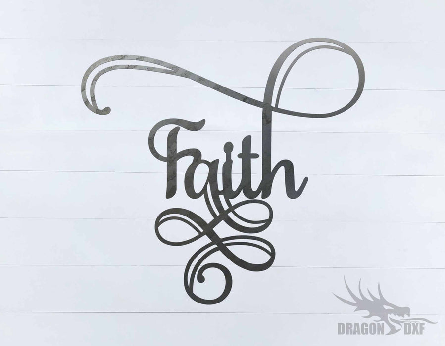 Faith 8 - Word - Decor - DXF Download