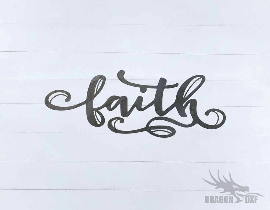 Faith 9 - Word - Decor - DXF Download