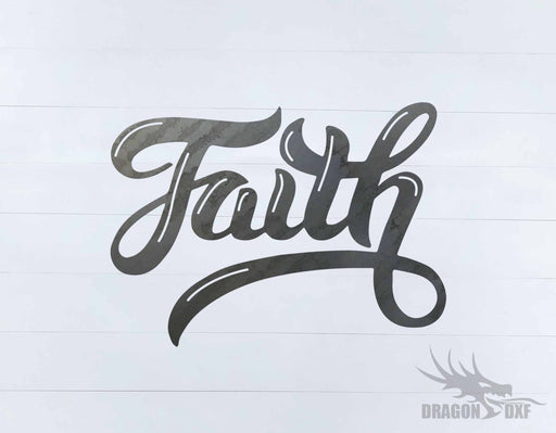 Faith 1 - Word - Decor - DXF Download