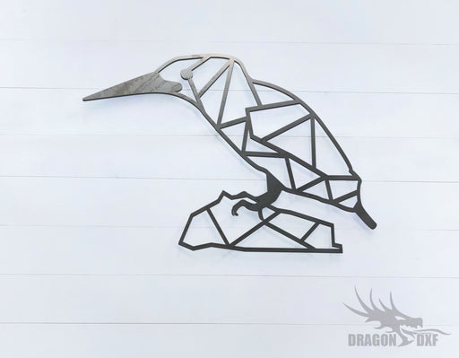 Kingfisher Bird - Geometric - Deco - Animals -  DXF Download