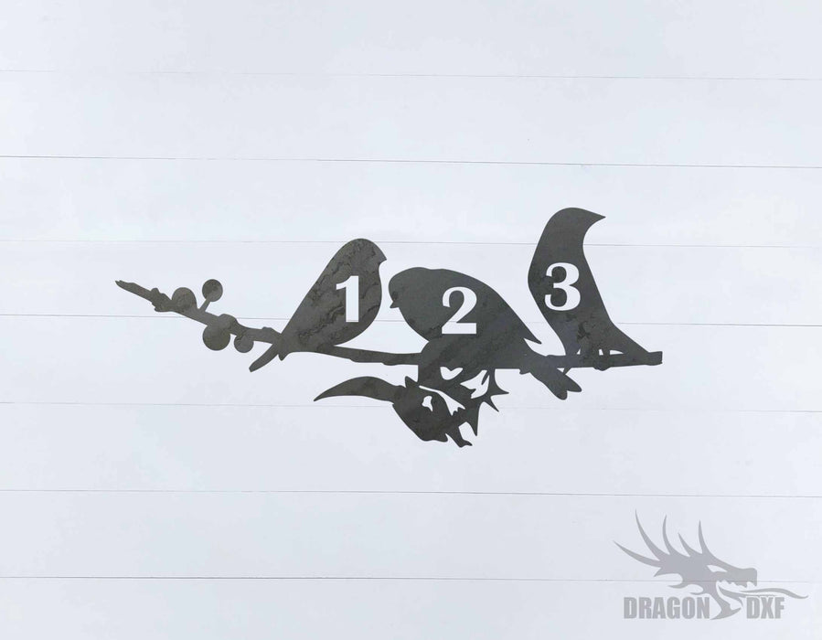 Bird Address Sign 3 - DXF Download