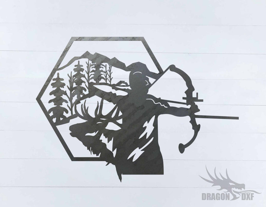 Bow Hunting Design 12 - DXF Download