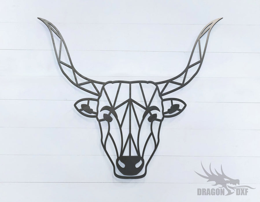 Bull - Geometric - Deco - Animals -  DXF Download
