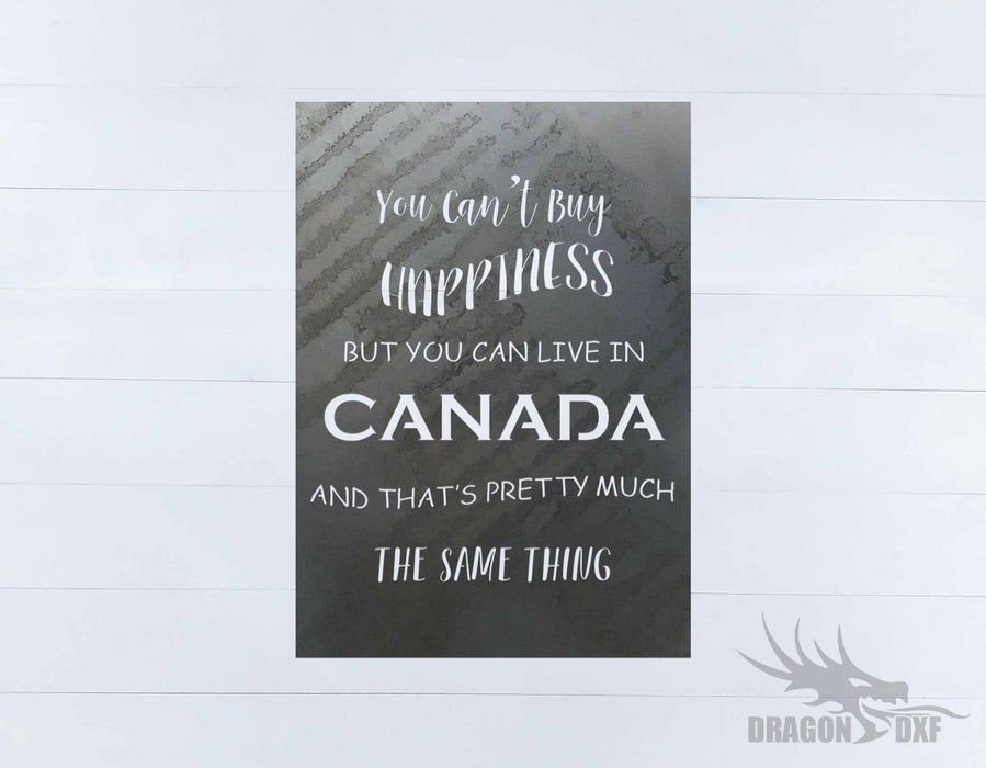 Canadian Sign 20 - DXF Download