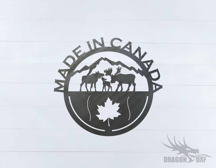 Canadian Sign 4 - DXF Download