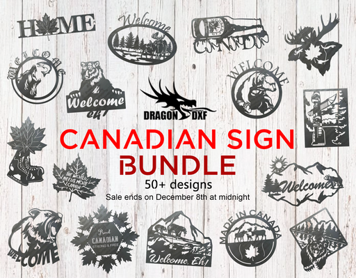 Canadian Sign Bundle - DXF Download