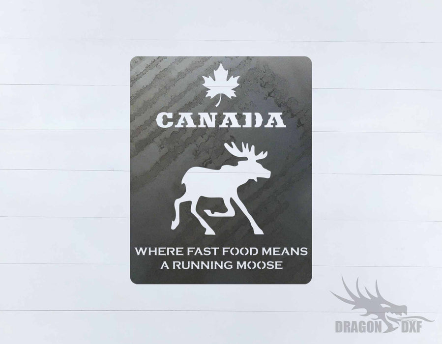 Canadian Welcome Sign 15 - DXF Download