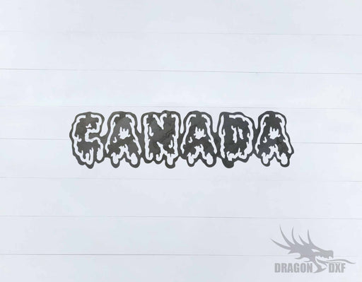 Canadian Welcome Sign 20 - DXF Download