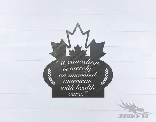 Canadian Welcome Sign 23 - DXF Download