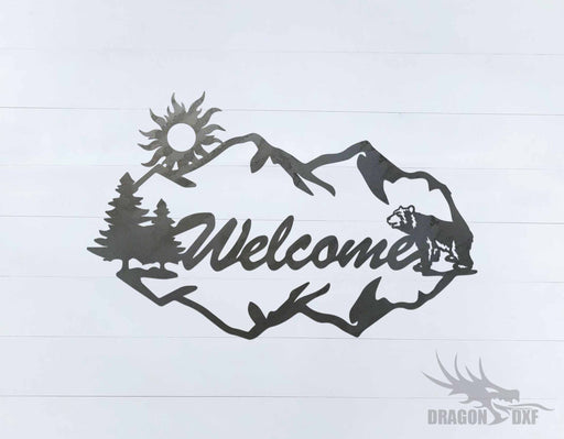 Canadian Welcome Sign 24 - DXF Download
