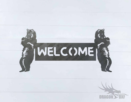 Canadian Welcome Sign 26 - DXF Download