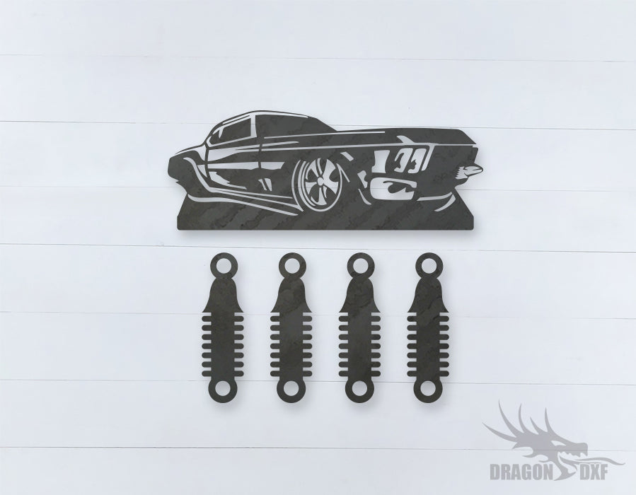 Car Wind chime 13  - DXF Download
