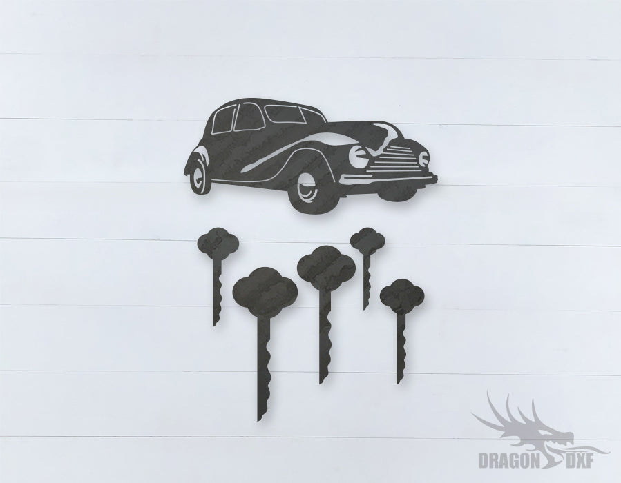 Car Wind chime 4  - DXF Download