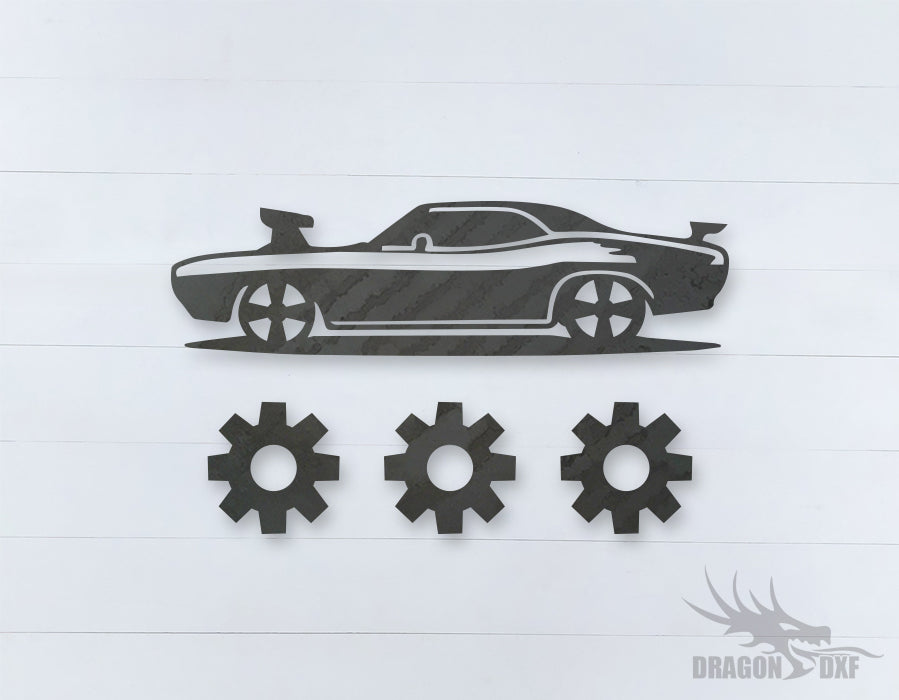 Car Wind chime 8  - DXF Download