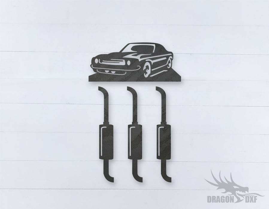 Car Wind chime 9  - DXF Download