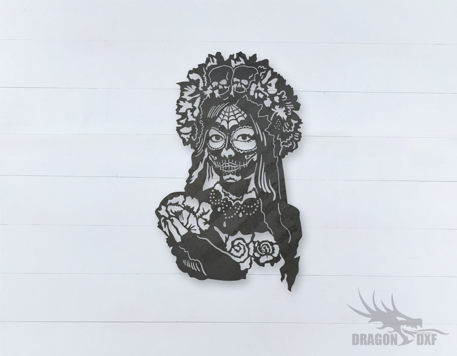 Catrina La Calavera Garbancera Sign 3  - DXF Download