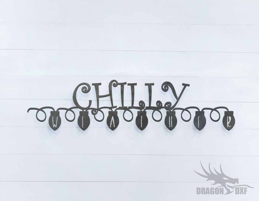 Chilly Weather Sign - DXF Download
