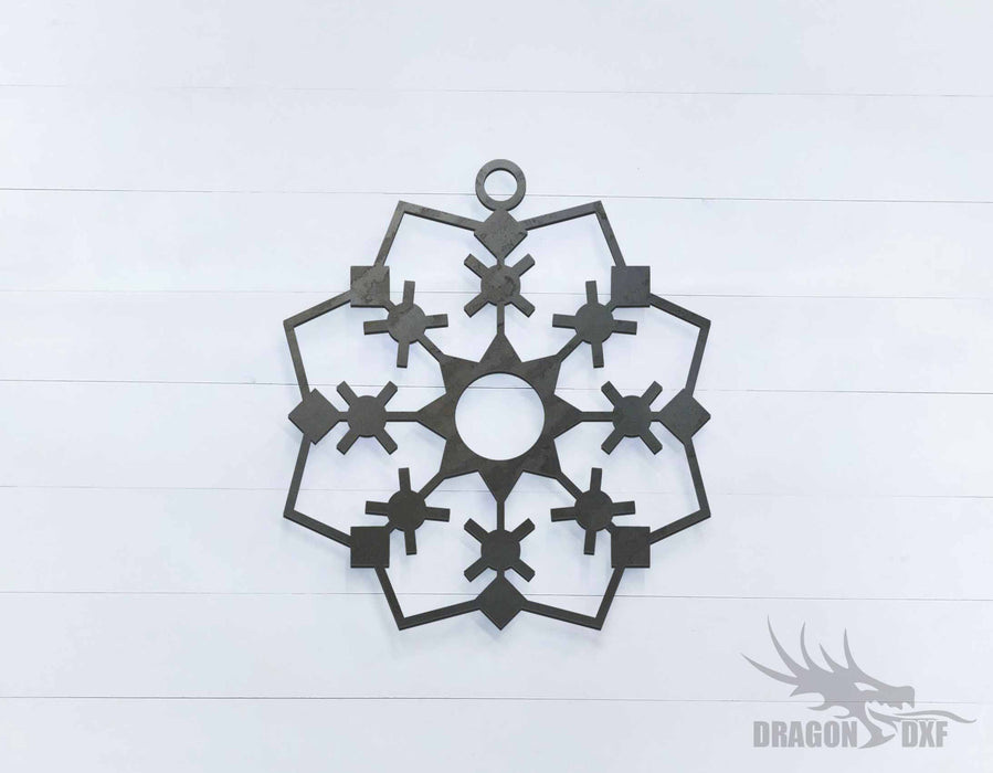 Christmas Star 1 Sign - DXF Download