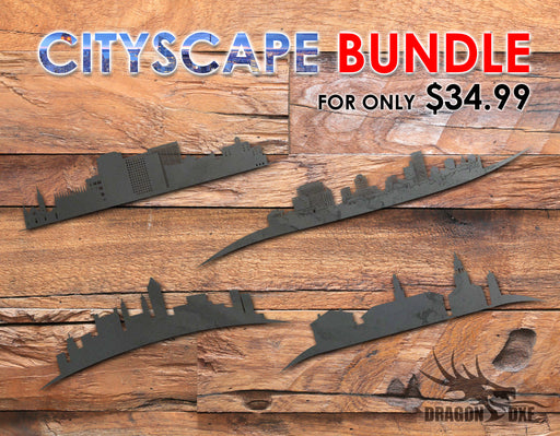 SALE: Cityscape Bundle (50 US Capitals - Downtown Silhouttes)- DXF Download