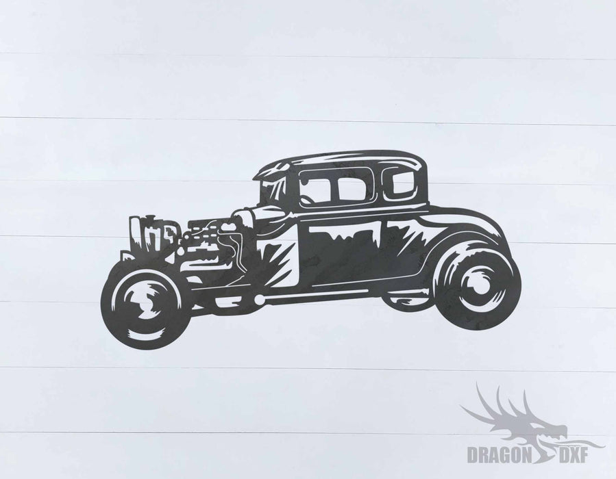 Classic Hot Rod Design 14 -  DXF Download