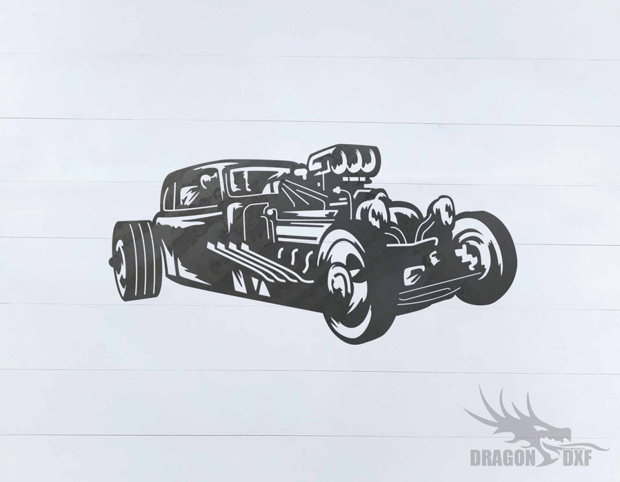 Classic Hot Rod Design 15 -  DXF Download