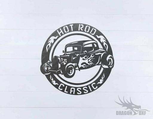 Classic Hot Rod Design 17 -  DXF Download