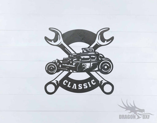 Classic Hot Rod Design 18 -  DXF Download