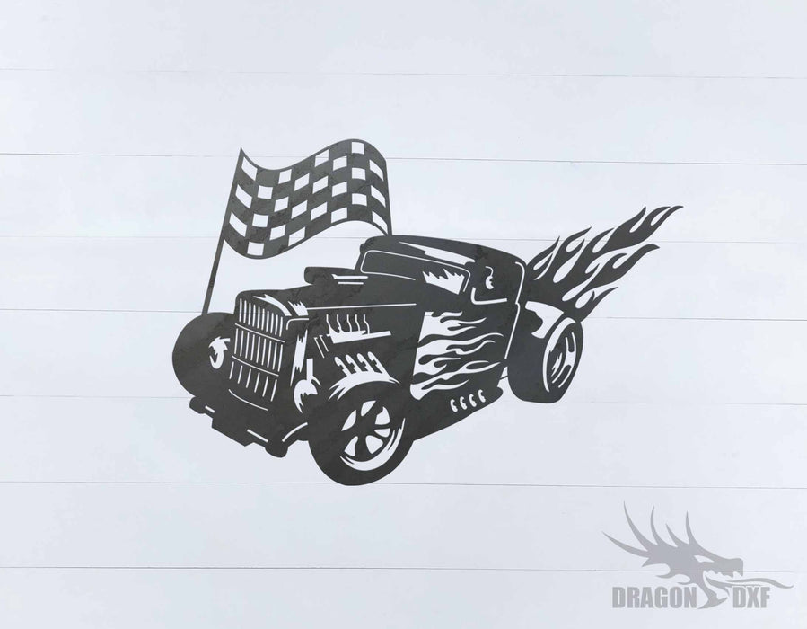 Classic Hot Rod Design 19 -  DXF Download