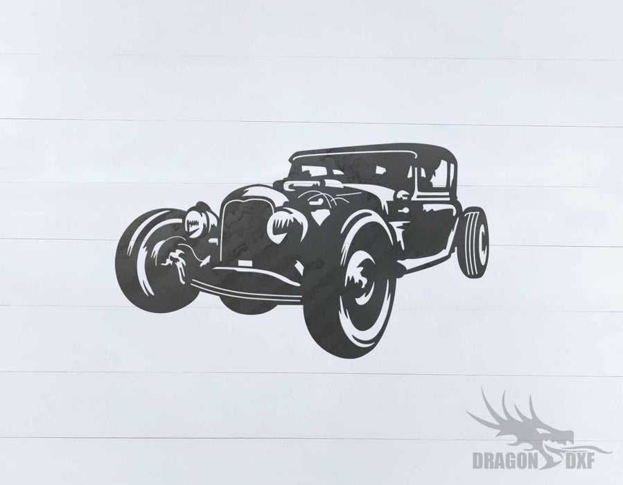 Classic Hot Rod Design 6 -  DXF Download