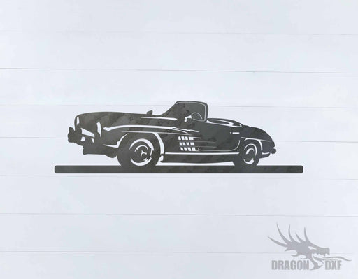 Classic Car 1957 Mercedes 300SL - DXF Download