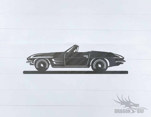 Classic Car 1963 Corvette Sting Ray - DXF Download