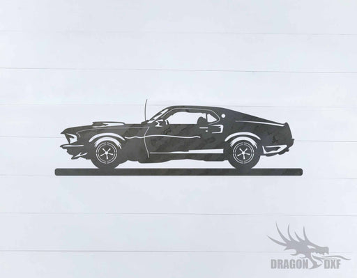 Classic Car 1969 Boss Mustang 429 - DXF Download