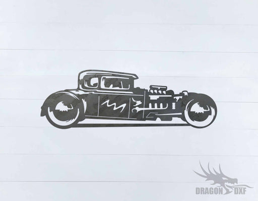 Classic Hot Rod Design 1 - DXF Download