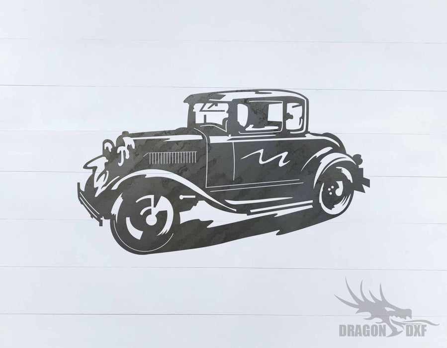 Classic Hot Rod Design 3 - DXF Download