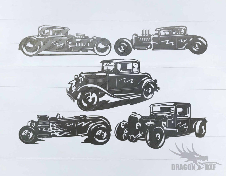Classic Hot Rod Bundle - DXF Download