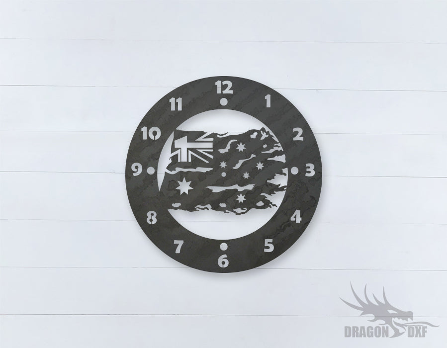 Australian Clock Design 14  - DXF Download