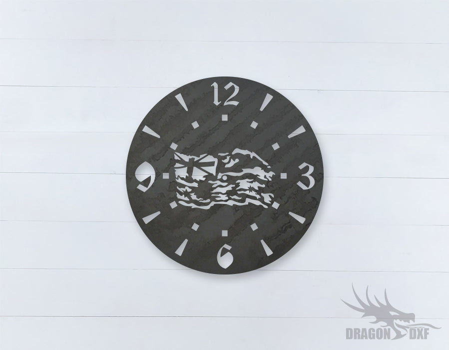 Australian Clock Design 15  - DXF Download