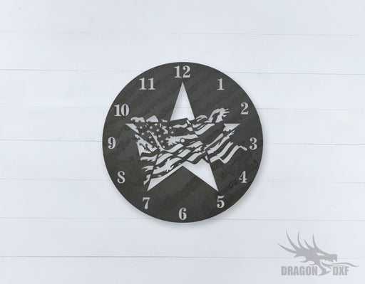 American Clock Design 12  - DXF Download