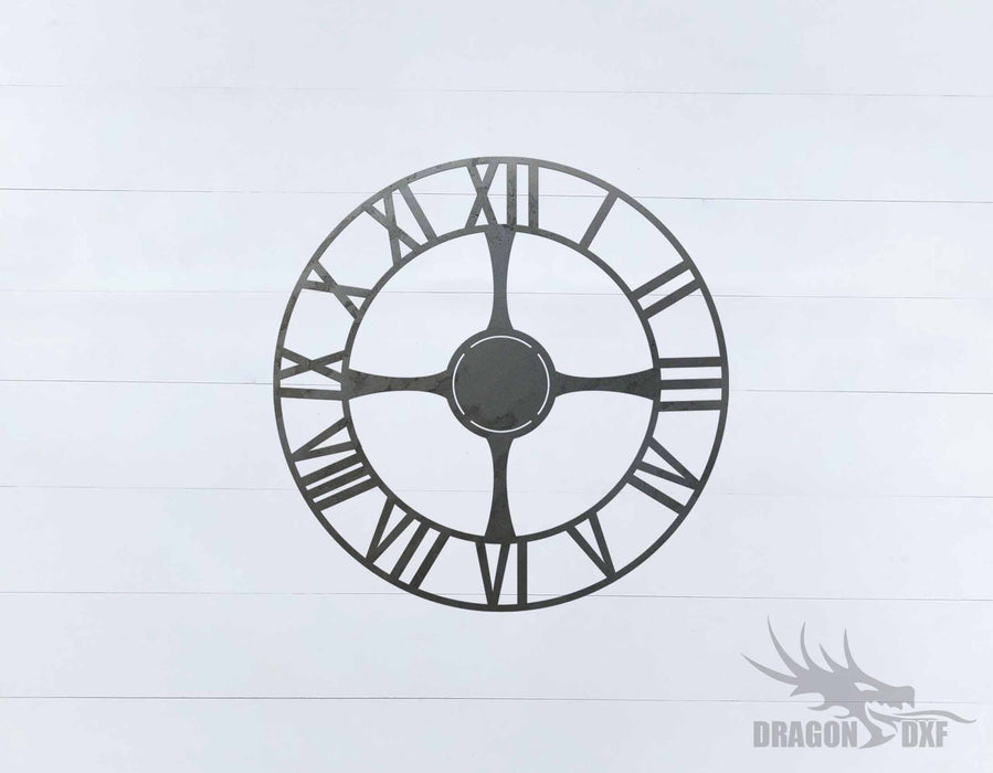 Clock Design 1  - DXF Download