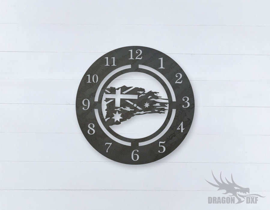 Australian Clock Design 12  - DXF Download
