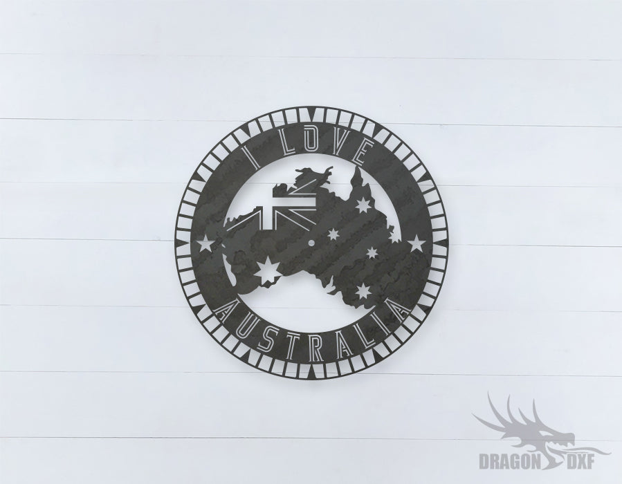 Australian Clock Design 13  - DXF Download