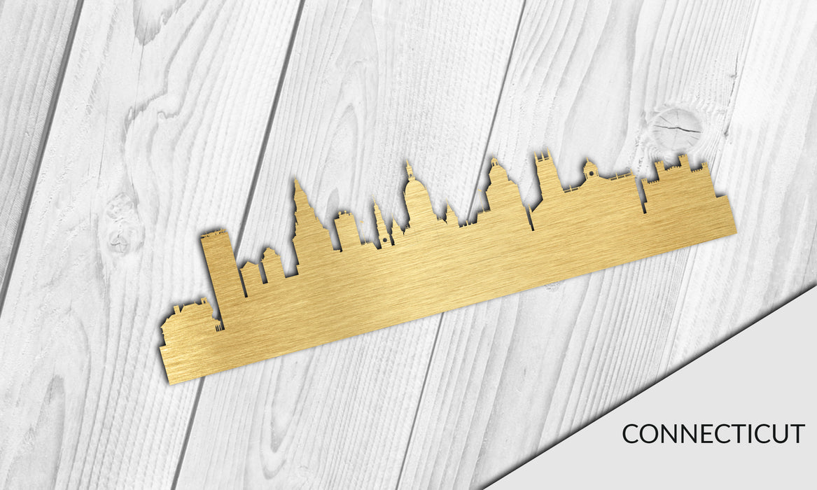 CONNECTICUT Cityscape - Downtown Hartford Silhouette - DXF Download