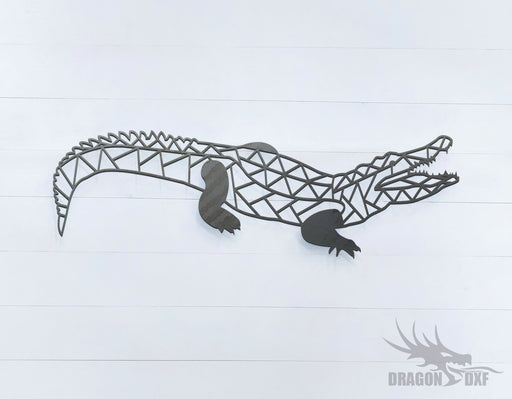 Crocodile- Geometric - Deco - Animals -  DXF Download