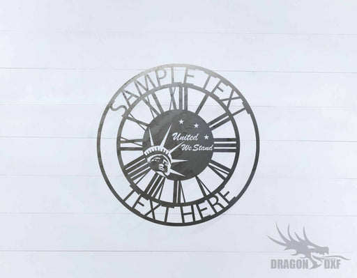 Custom Clock Design 1- DXF Download