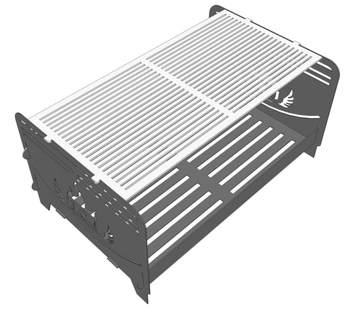 Collapsible Rectangular 2-way Fire pit - Cut and Assemble - DXF Downloadable File