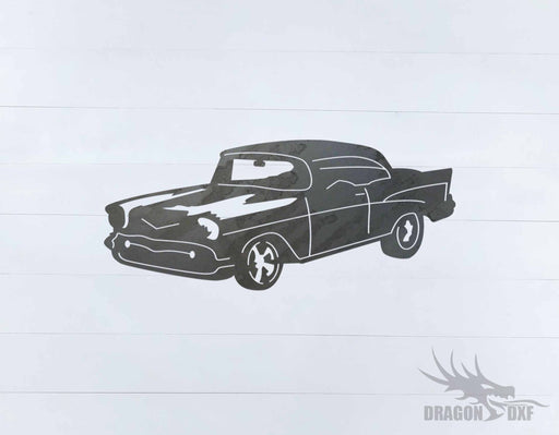 Drag Racing Car 57 Chevy Bel-Air - DXF Download