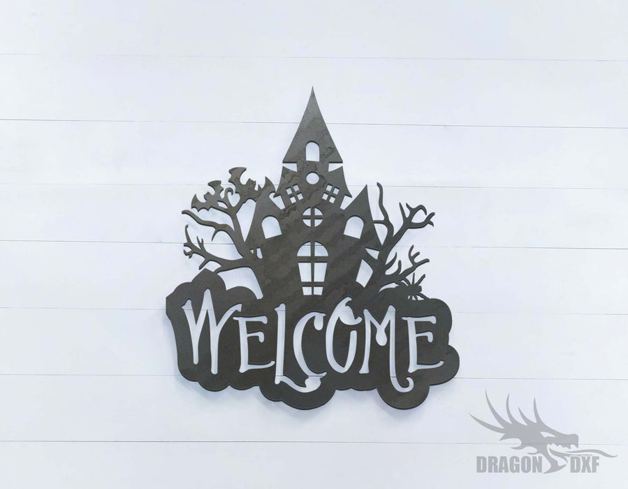 Halloween Castle 2 Welcome Sign - DXF Download