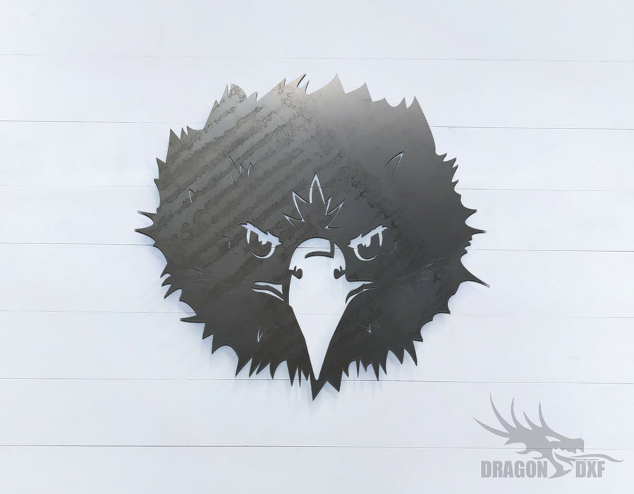Fearless Eagle facing front - Zoo Animals -  DXF Download